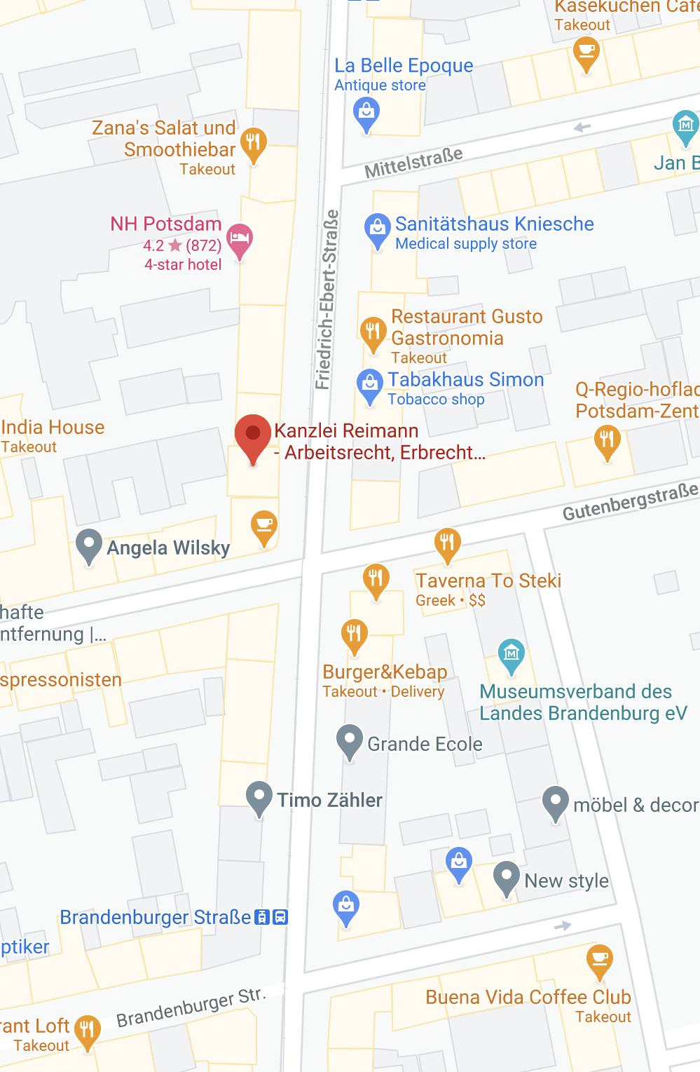 Adresse Kanzlei Reimann Potsdam